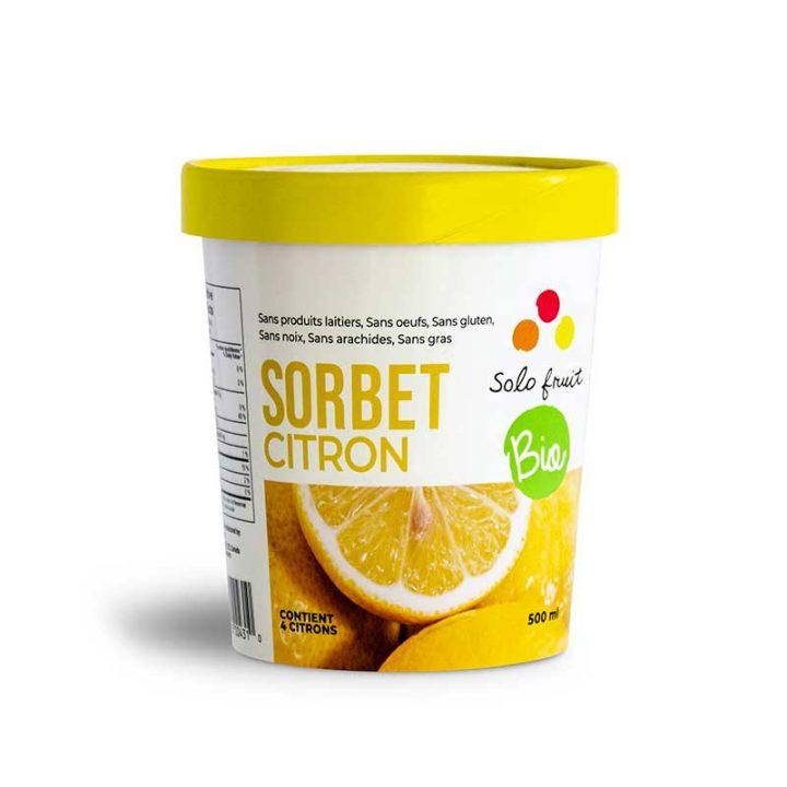Sorbet au citron biologique