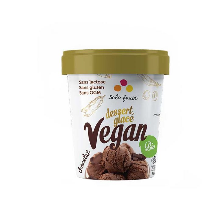 Dessert glacé biologique vegan au chocolat