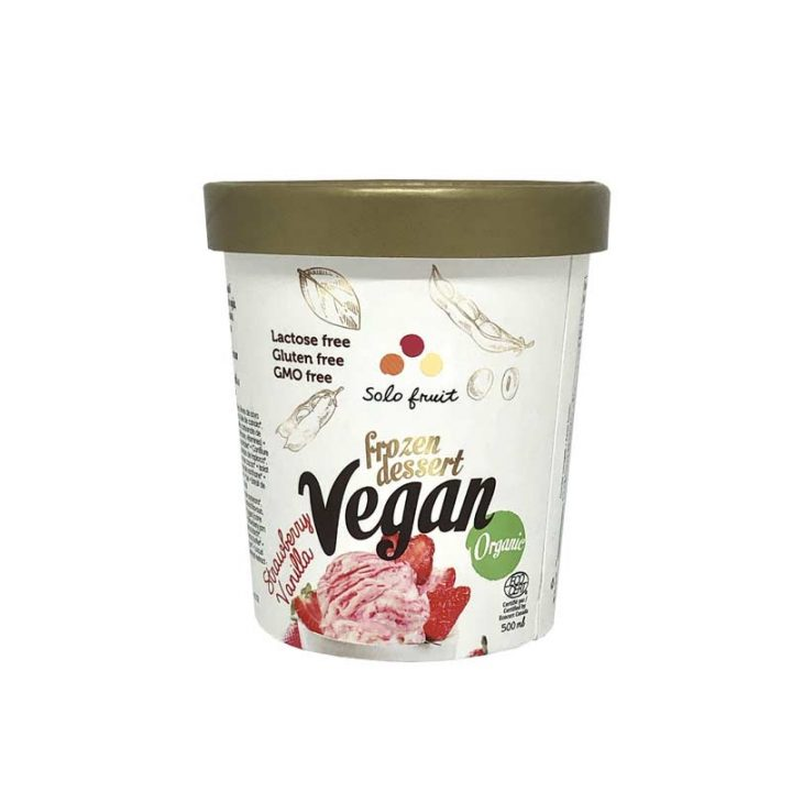 Strawberry Vanilla Vegan Frozen Dessert